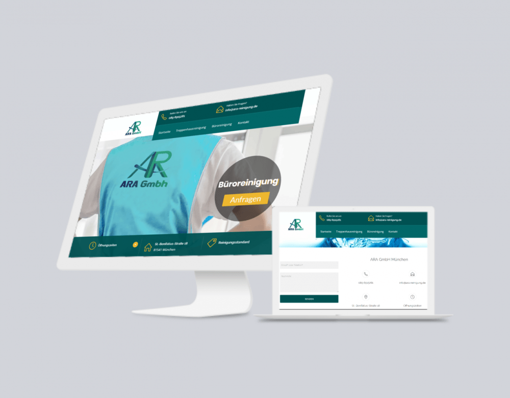 ara gmbh mockup website