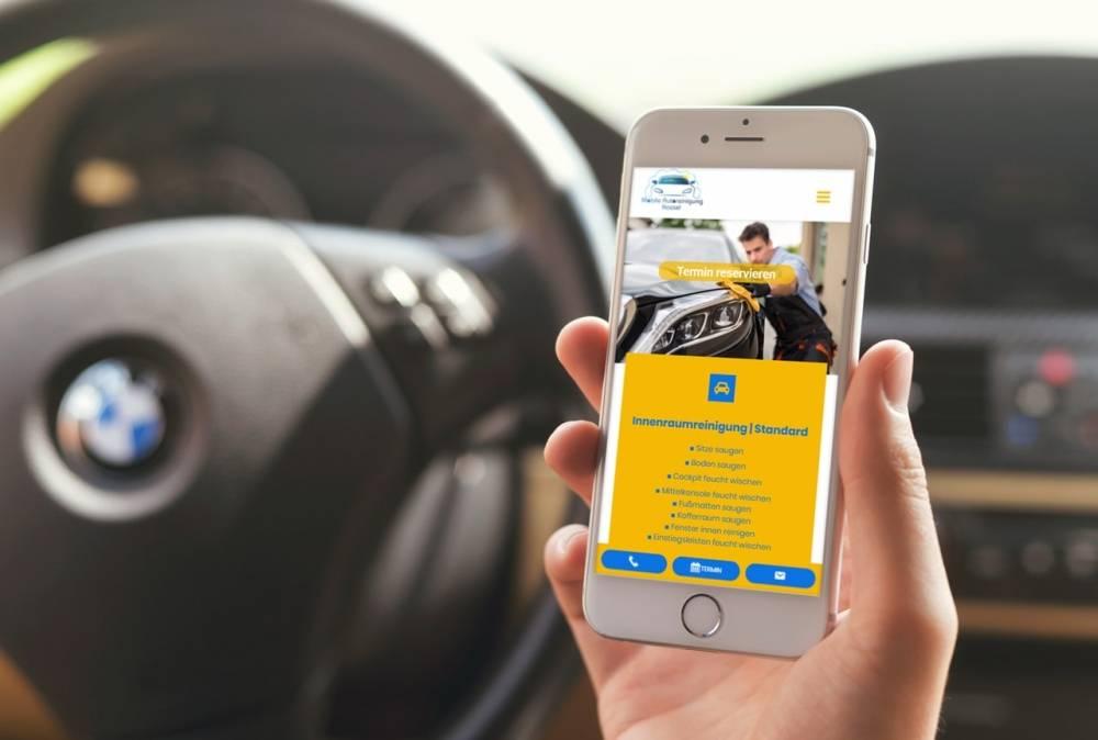 iphone car mockup
